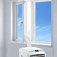 AUGOLA AirLock Raamafdichting voor mobiele airconditioners, wasdrogers en afvoerdrogers, voor bevestiging aan ramen…
