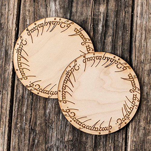 The One Coaster Set of 2 Raw Wood