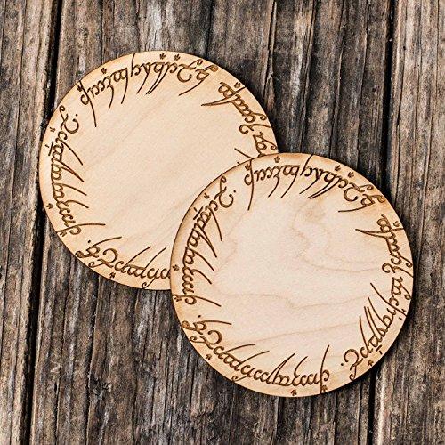 The One Coaster Set of 2 Raw Wood