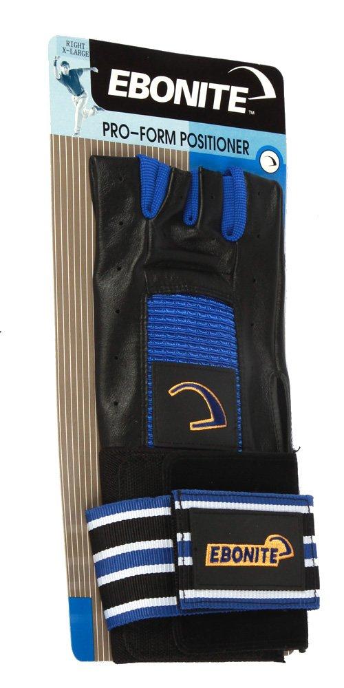 Ebonite Pro Form Positioner Left Bowling Glove - Black, Small 029744329079