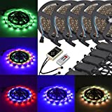 6803 IC RGB Magic Dream Color Multicolors LED Strip Lights Full Set ( Strip Lights + Remote Controller + Power Adapter ) Non-waterproof (25m/82ft)