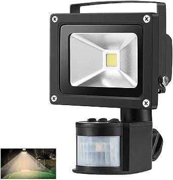 Foco con Sensor Movimiento Proyector LED Exterior Iluminación de ...