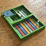 ExclusiveLane Multicoloured Wooden Table Top Organiser - Table Organiser Table Top Pen Stand Office Supplies And Organisers Decorative Box