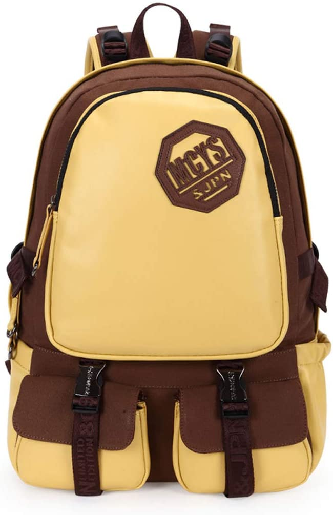 HZB Middle School Schoolbag Fashion Trend Shoulder Bag Leisure Travel Backpack