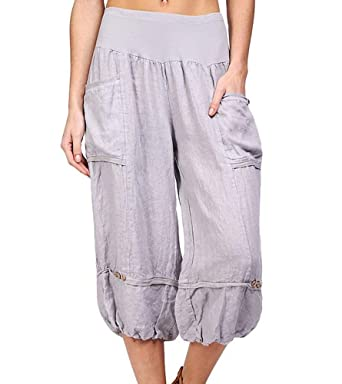 cwna Mujer Harem Pantalón Yoga, Corto Baggy pantalón: Amazon ...