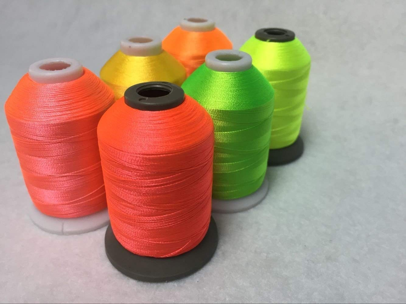 Sinbel Polyester Embroidery Thread 6 Neon Fluorescent Colors 1000Meters/1100Yards Per Spool For Brother Babylock Janome Singer Pfaff Husqvaran Bernina Machines Xinbei Inc 4337015937