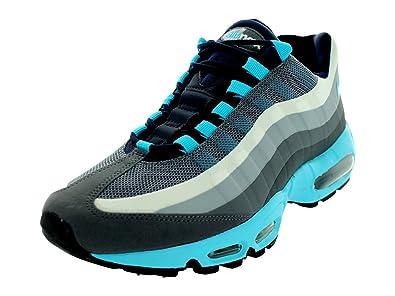 best service 2ff34 0f14d Amazon.com   Nike Air Max 95 No Sew Mens Running Shoes 616190-040 Dark Grey  Gamma Blue-Obsidian-Cool Grey 10 M US   Running