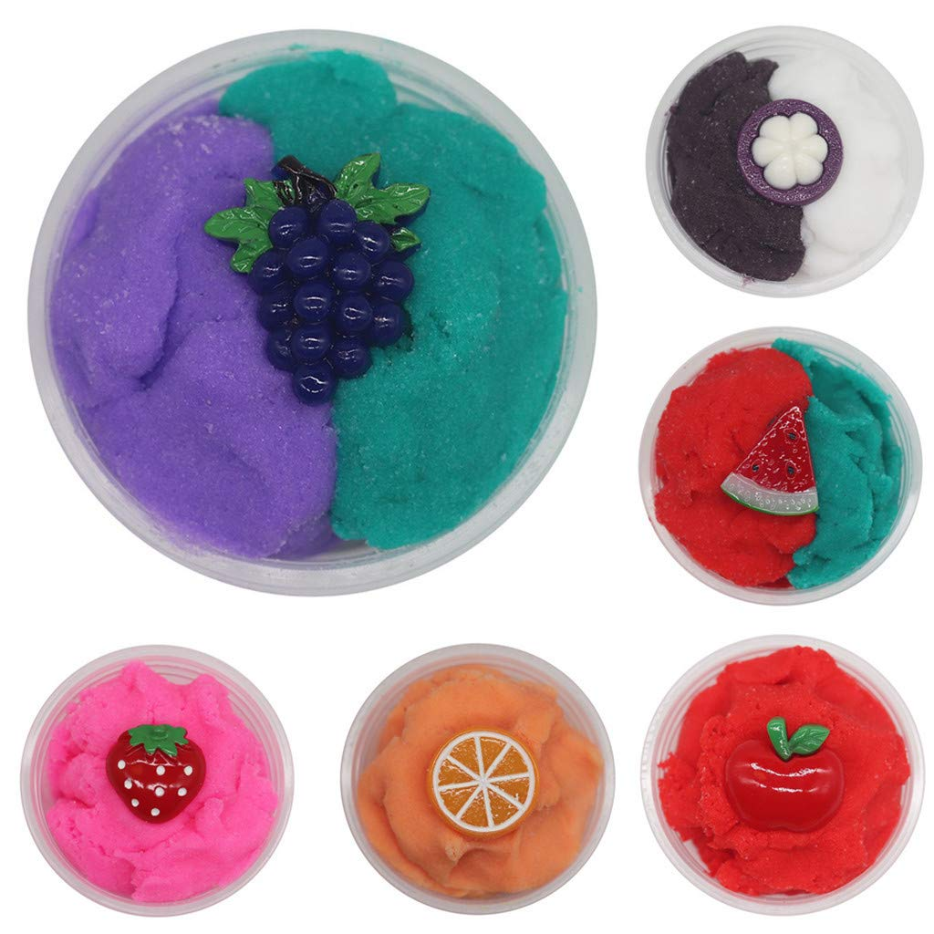 callm 60ml Beautiful Fruits Cloud Slime Putty Scented Stress Kids Clay Toy by callm (Image #2)