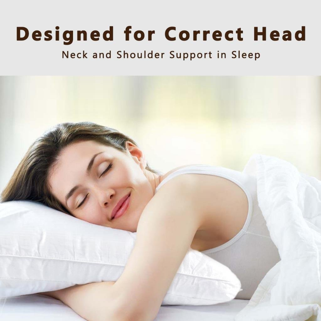 Down Alternative Pillow Fluffy (2 Pack Queen), Best Hotel Pillows with 2'' Gusset 100% Cotton Cover, Hypo-Allergenic Sleeping Pillow by The Duck And Goose Co by The Duck And Goose Co (Image #6)