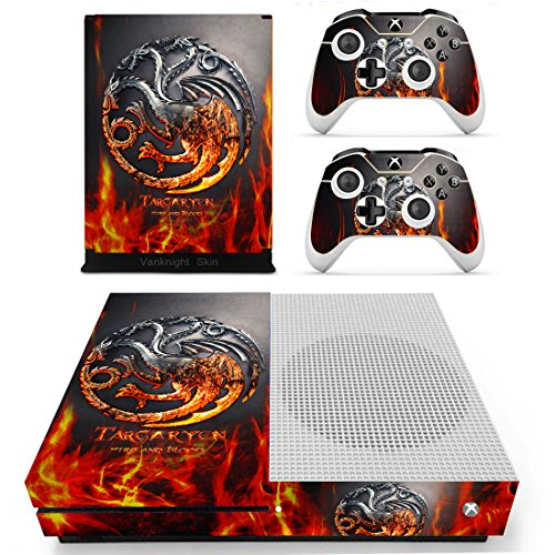 Vanknight Vinyl Decal Skin Stickers Cover for Xbox One S/Slim Console 2 Controllers -