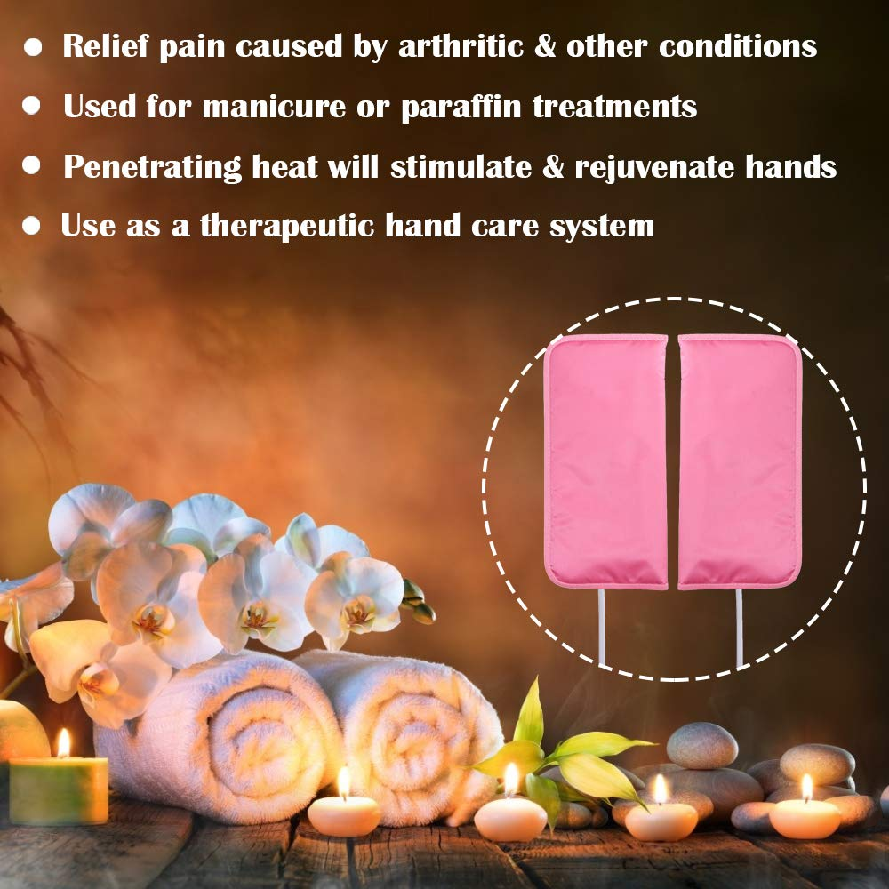 Noverlife Electric Heated Mittens Gloves for Paraffin Hand Wax Treatment, Nail Art Manicure Warmer Mittens, Beauty Therapy SPA Mitts for Women Beauty Treatment: Health & Personal Care