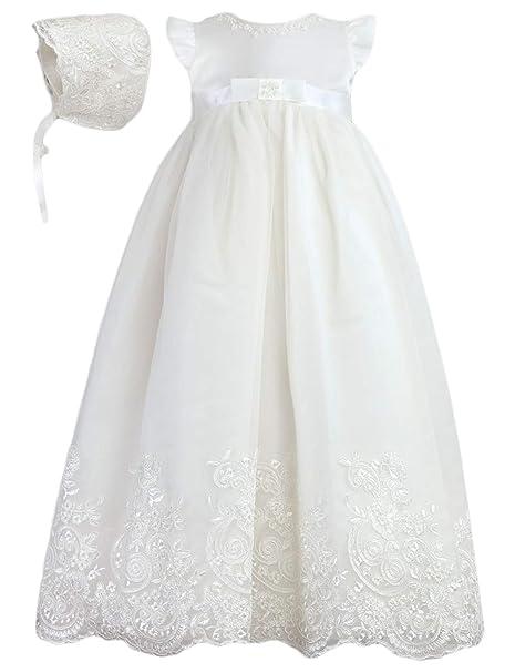 Amazon.com: Faiokaver Vestidos largos de bautizo para bebé ...