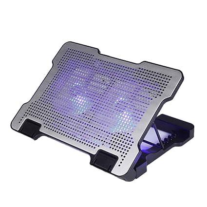 XINWEI PAD Refrigeración para Ordenador Portátil, con 2 Ventiladores, Soportes Ajustables Peso Ligero Ultraportátil