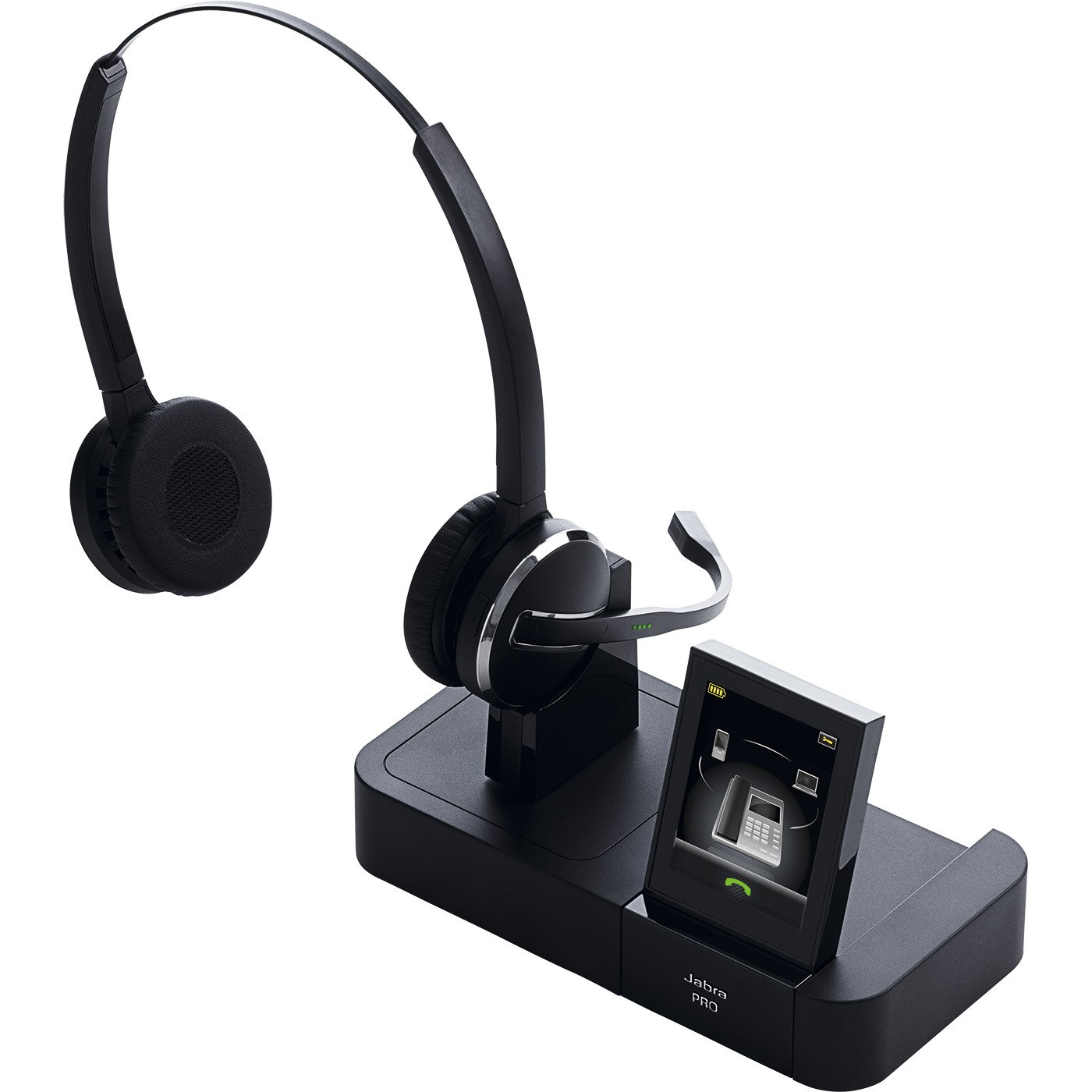 Jabra PRO 9465 Duo Wireless Headset with Touchscreen for Deskphone, Softphone & Mobile Phone by Jabra (Image #1)