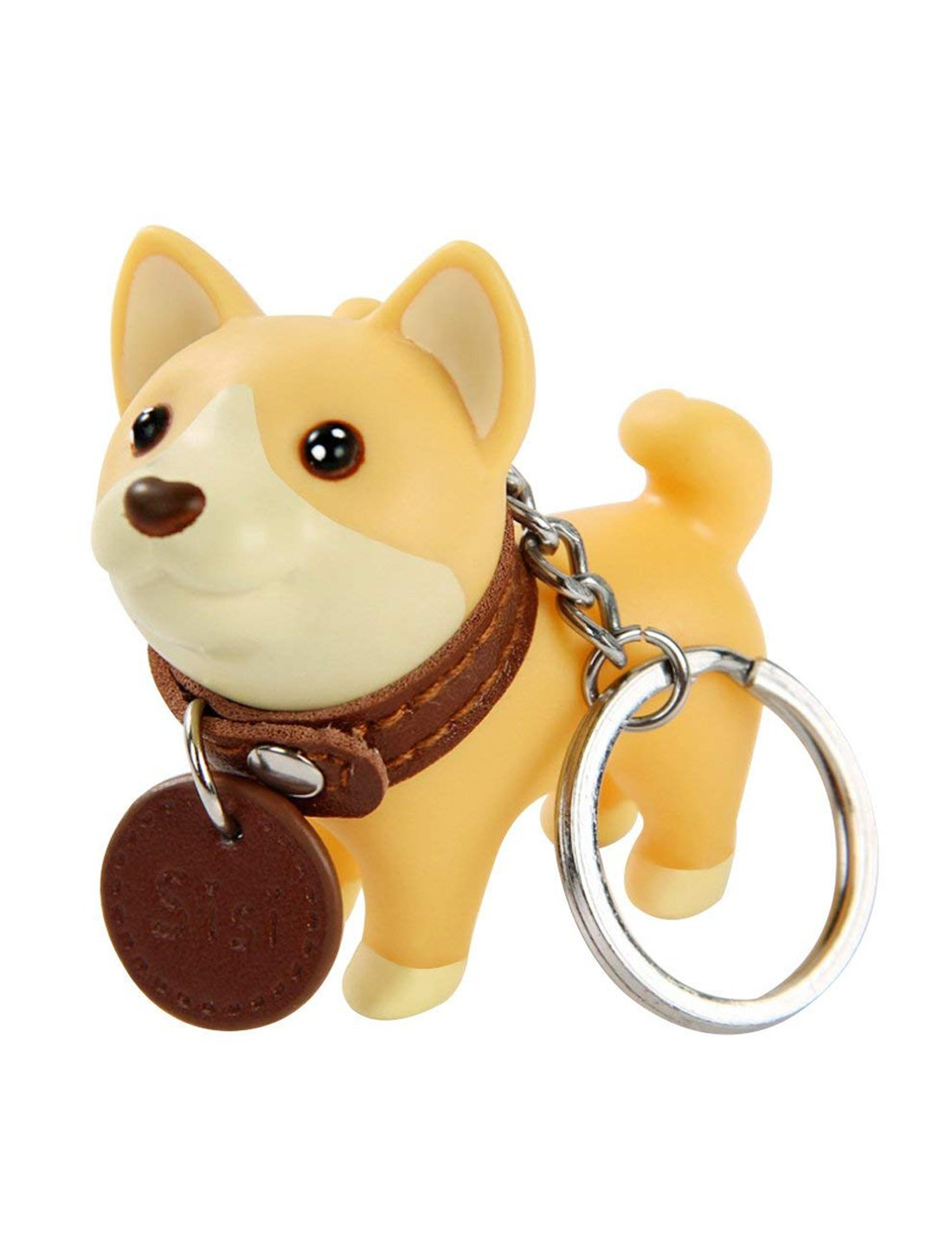 DomeStar Dog Keychain Charms, Shiba Inu Key Ring Cute Keychains Car Key Chain for Kids Adults