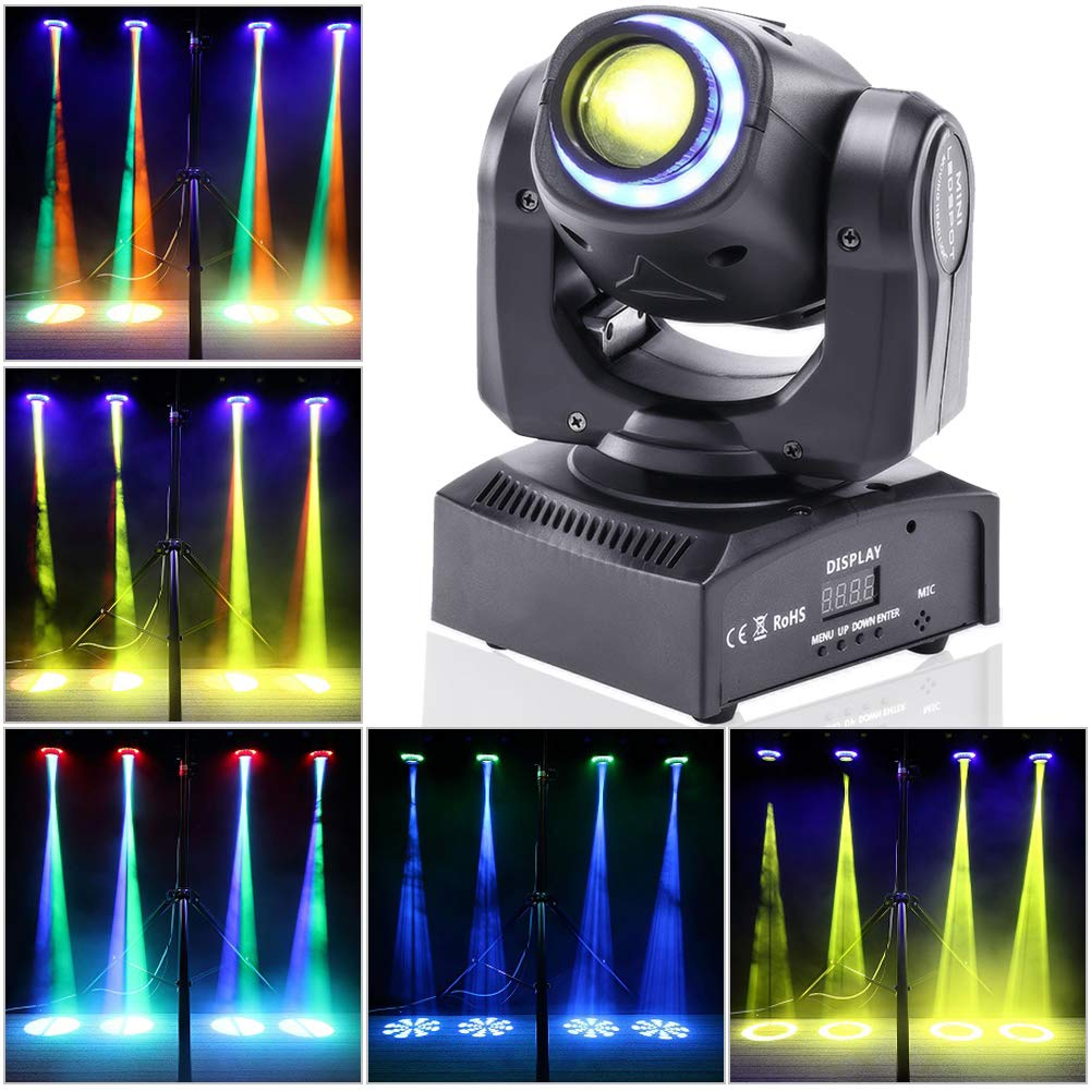 Putting Magic Of Theatrical Lighting To >> Stage Lighting Moving Head Light Led Spot 4 Color Rgbw Gobos With Magical Circle 50w Dmx For Dj Disco Party Lights By U King