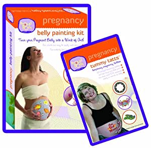 Amazon.com : Pregnancy Belly Painting Kit Plus A Tummy ...