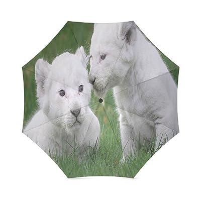 Custom Cute Giraffe Compact Travel Windproof Rainproof Foldable Umbrella