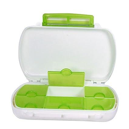 Cute Mini 6 ranuras portátil medicina pastillero medicamentos dispensador de medicina Tablet Almacenamiento Holder Case Organizador