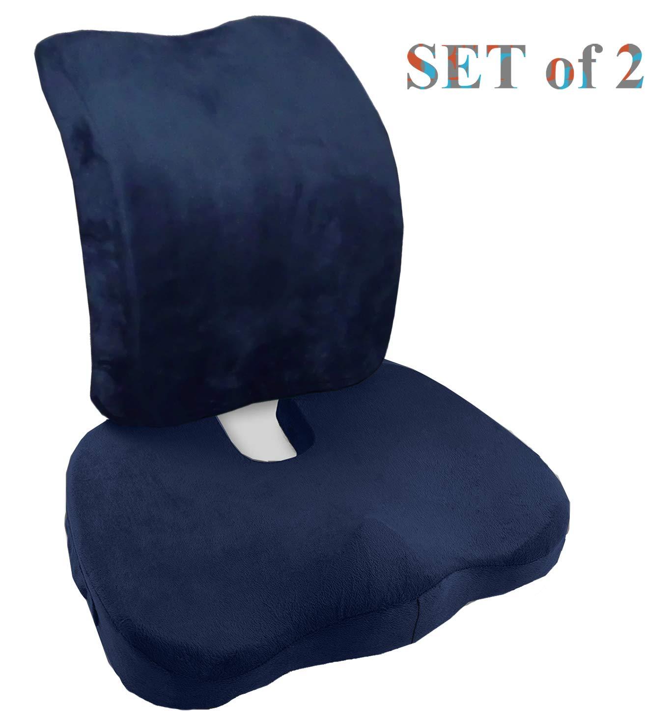 Seat Cushion Memory Foam Coccyx Cushion for Tailbone Pain - Office Chair Wheelchair Car Seat...