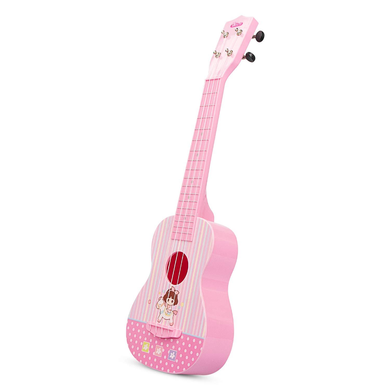 aPerfectLife Ukulele Guitar for Kids, 23 Inch Nylon-String Starter Classical Guitar for Beginner Children (Pink) by aPerfectLife