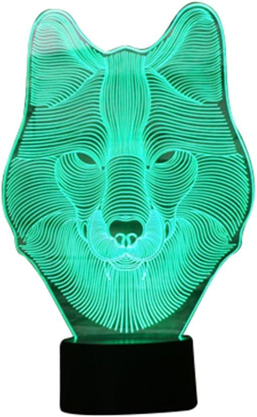 3D Illusion Nachtlicht, moderne LED-Tisch Schreibtischlampen, 1