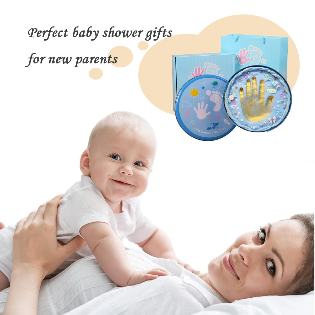 Baby Handprint Kit-Unique Shower Gifts with Non Toxic Clay, Memorable keepsake/Nursery Kit for New Baby/Parents,Perfect for Nursery Room,Bedroom,Living Room by MICHIKO (Image #2)