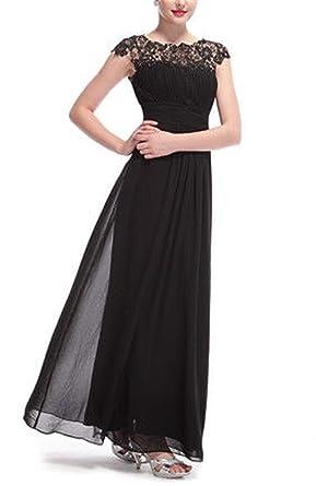 XGSD Womens Evening Dress Sexy Open Back Beaded Evening Dress Bridesmaid Chiffon Dress Party Prom Gown