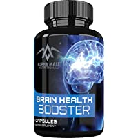 Alpha Male Extra Strength Brain Booster for More Focus, Boost Energy, Better Memory & Clarity - Best Brain Supplement available with Ginkgo Biloba.