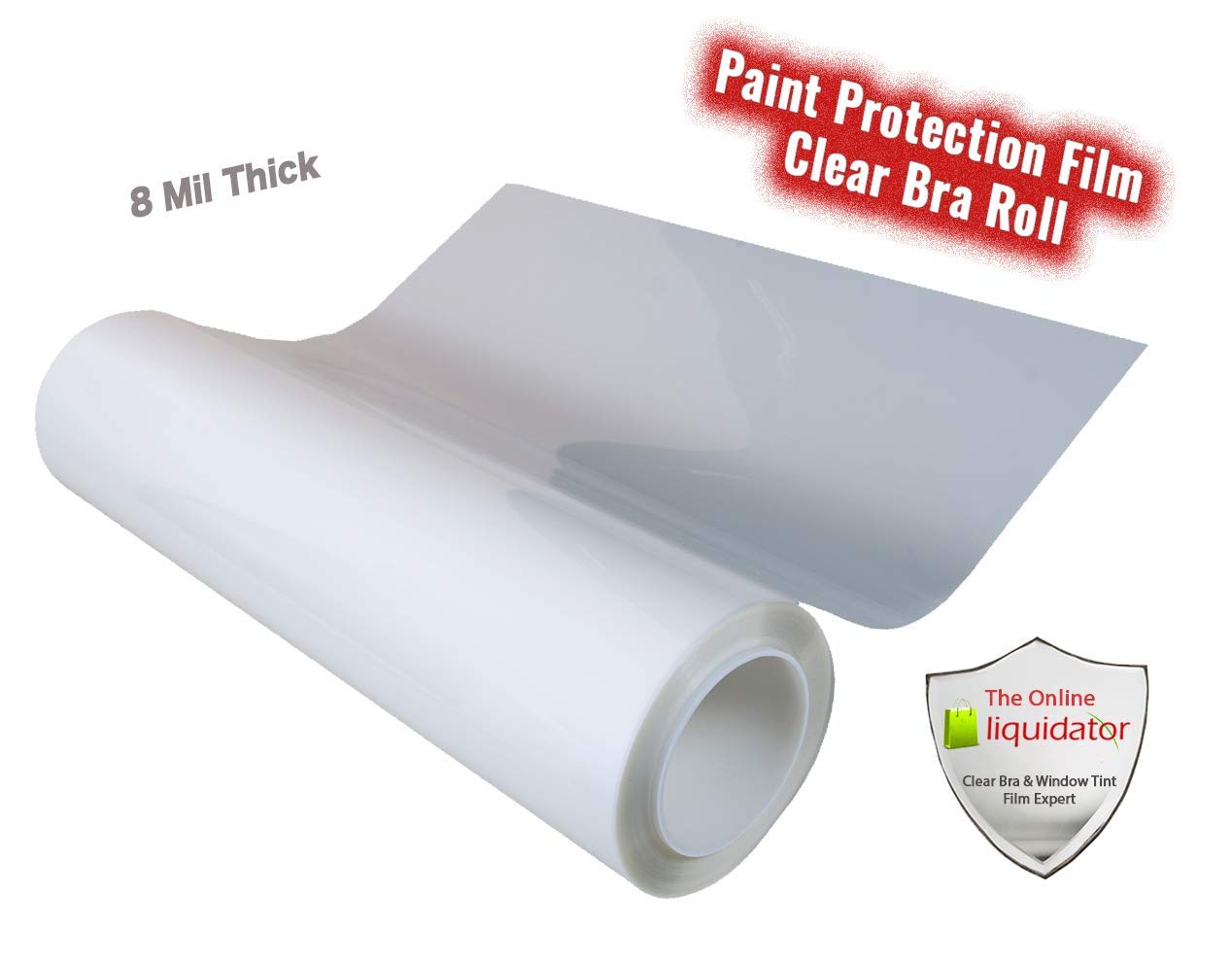 The Online Liquidator Paint Protection Film 24'' inch x 20' feet (240'') Bulk Roll Clear Bra Uncut Invisible Vinyl Shield for Cars