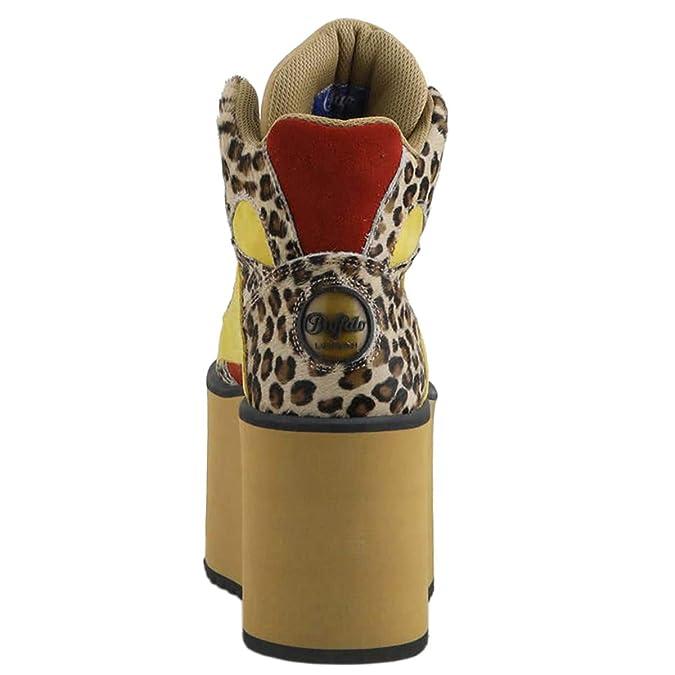 Buffalo 1300 10 Leop Fur Suede Femme 2 0 IbYfvy76g