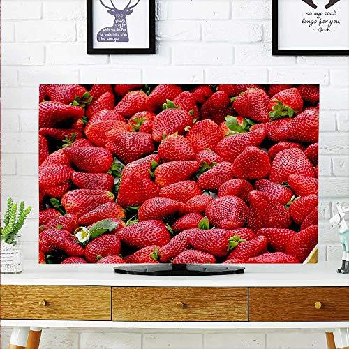 - aolankaili TV dust Cover Seductive Fresh Strawberry TV dust Cover W25 x H45 INCH/TV 47