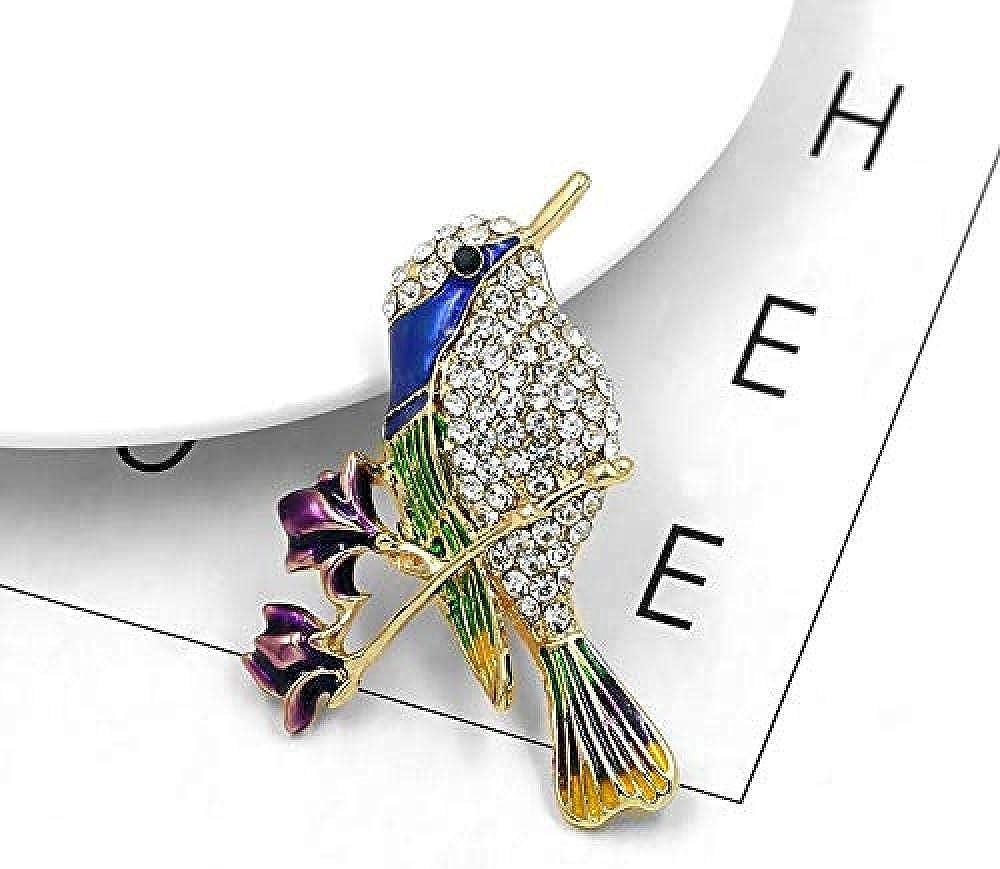 Silk Scarf Buckle Coat Western Ornament Badge Christmas New Year Gift Enamel Bird Flower Brooch Pin Alloy