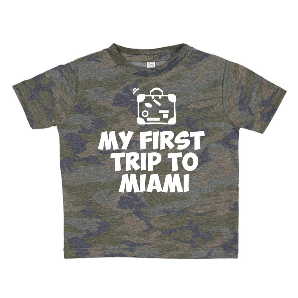 My First Trip to Miami Toddler//Kids Short Sleeve T-Shirt