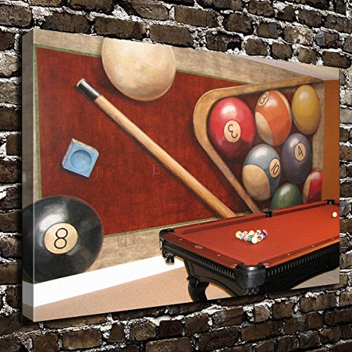 COLORSFORU Wall Art Painting Billiards Prints On Canvas The Picture Landscape Pictures Oil for Home Modern Decoration Print Decor for Living Room (Billiards Decor Room)