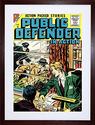Wee Blue Coo Comic Book Public Defender Action Crime Police Frame Art Print Picture ()