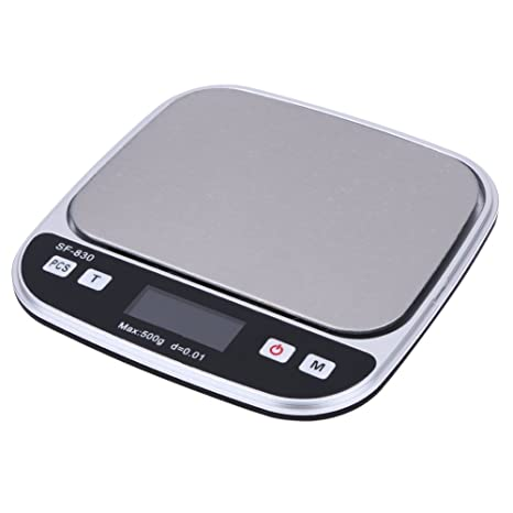 awakingdemi LCD Digital Peso escala, 0.01gram precisión joyería cocina peso báscula de bolsillo 500