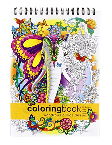 Action Publishing Coloring Book: Wondrous Curiosities· Unique and Imaginative Fantasy Creatures for Stress Relief, Relaxation and Creativity · Large (8.6 x 11.75 inches)]()