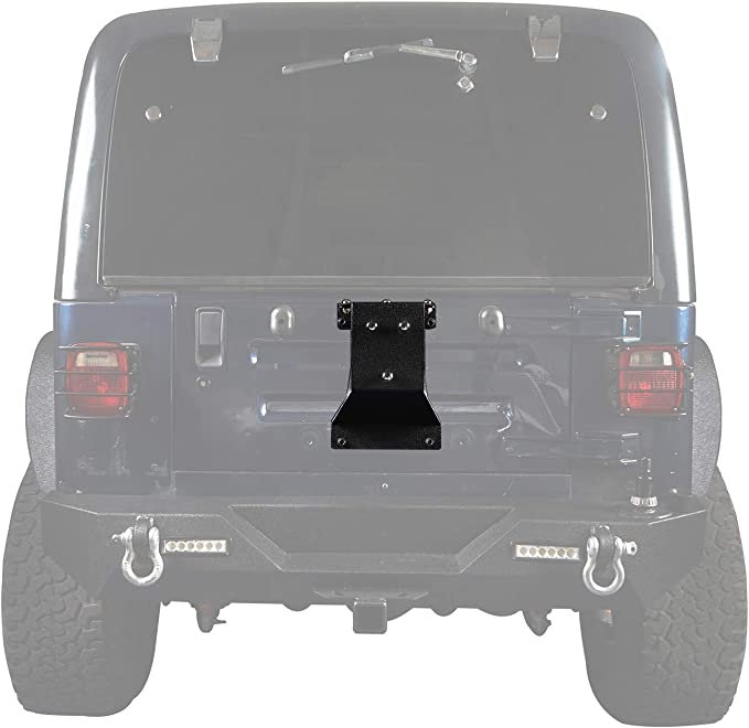 Red Hound Auto Textured Black Heavy Duty Tire Carrier Mount for Compatible with Jeep Wrangler 1987-1995 and 1997-2006