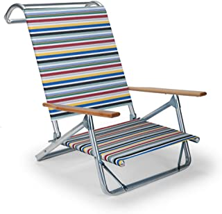 product image for Telescope Casual Original Mini-Sun Chaise Folding Beach Arm Chair, Classic Stripe