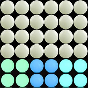 Luminous Solar Stone Beads Grow in The Dark Growing Loose Bead 8mm 100pcs Blue Green Mixed with Hole DIY Charm Smooth Beads for Bracelet Necklace Earrings Jewelry Making Decoration(Multicolored, 8mm)