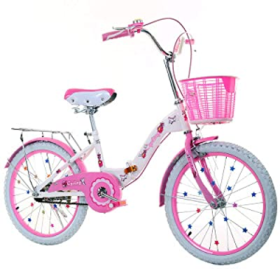 LINGS Foldable Bicycle Kids' Bikes 20 inch Single Speed Children's Bicycle 6-14 Years Old Student Bike Female Folding Bicycle: Home & Kitchen