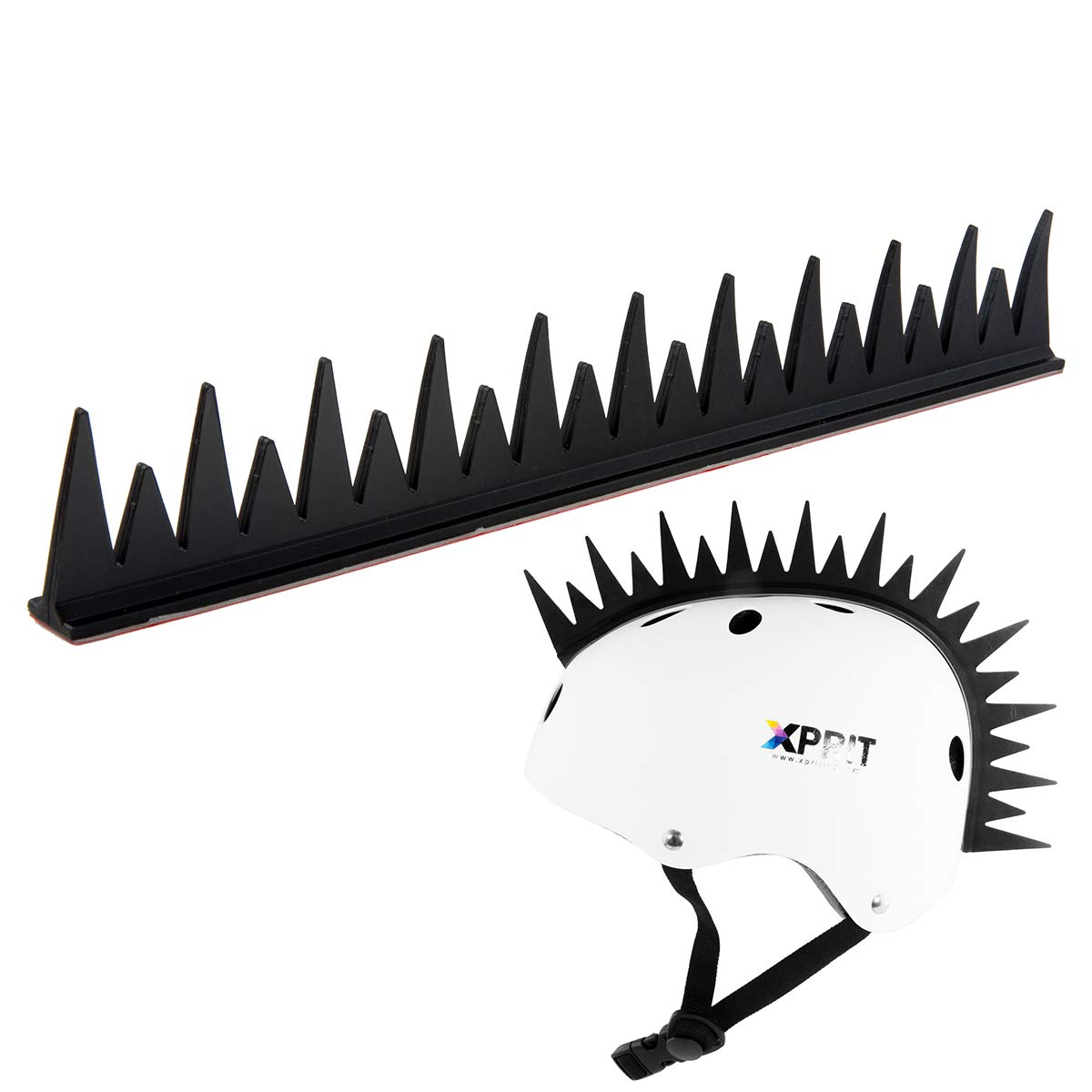 Motorcycle Cycling Warhawk Wig Accessory Adhesive//Stick On Helmet for Skateboarding Dirt-Bikes XPRIT Mohawk