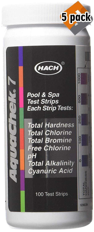 AquaChek 551236 7-Way 100 Count Pool Water Test Strips, 5 Pack by AquaChek