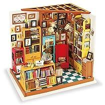 ROBOTIME DIY ドールハウス 本で山積みのサムの本屋さん/SAM'S ...