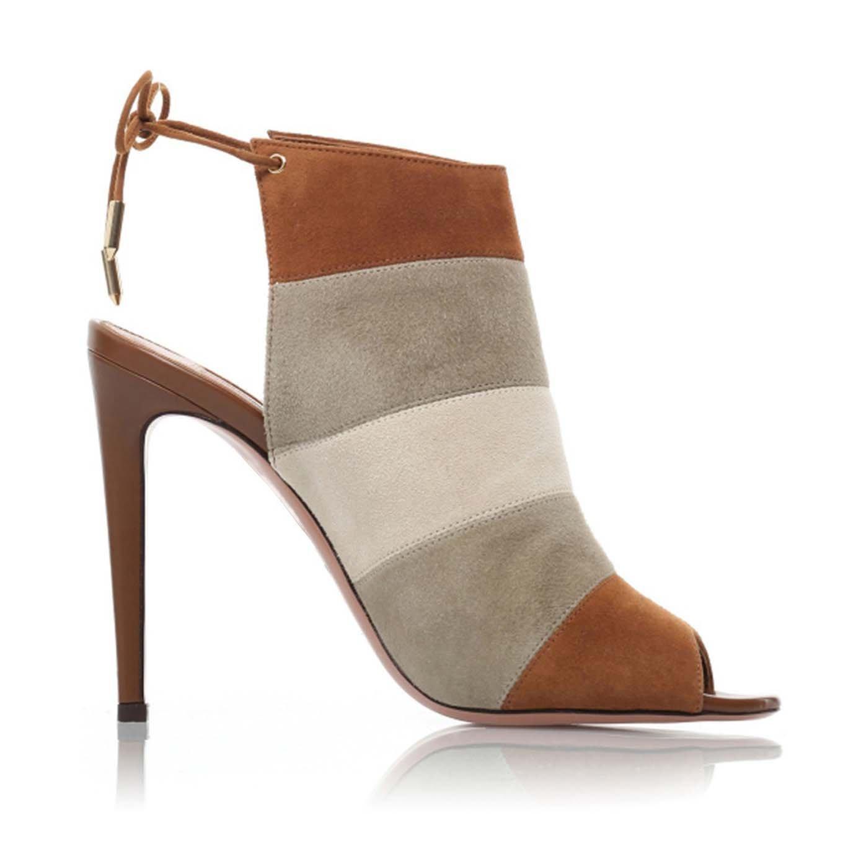 Los Zapatos Únicos Originales Gamuza De Colores Mezclados Sandalias De Caramelo Hechos A Mano De Tacón Alto,#2,44 44