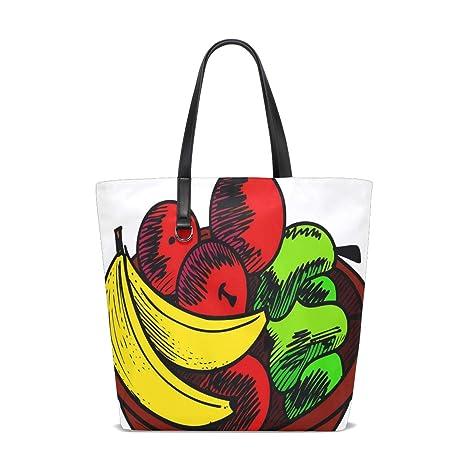Amazon.com | Fruit Basket Tote Bag Purse Handbag Womens Gym ...