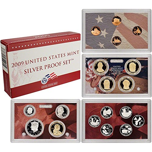 2009 S U.S. Mint Silver Proof Set - 18 Coins - OGP Superb Gem Uncirculated