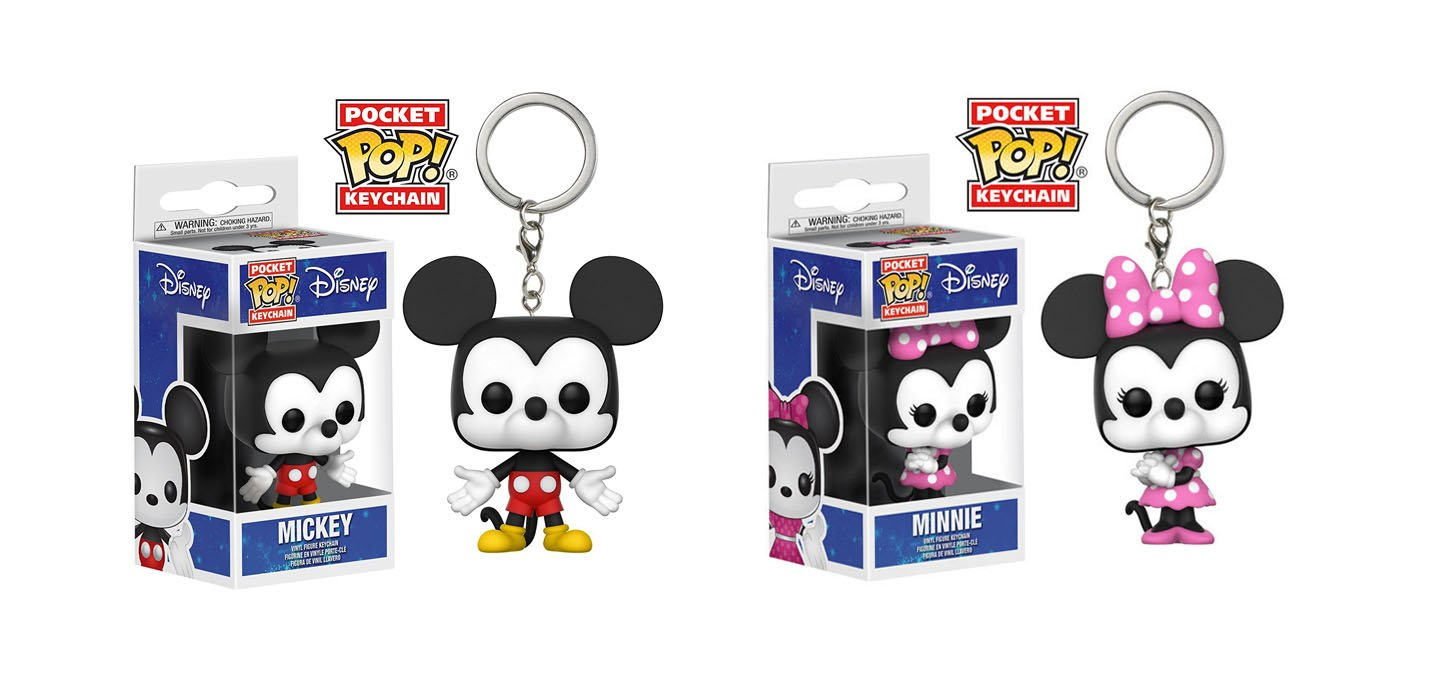 Funko POP! Pocket Keychain: Disney Minnie Mouse and Mickey Mouse Mini Toy Action Figure - 2 Pack BUNDLE