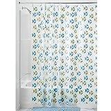 Fish Shower Curtain InterDesign Novelty EVA Shower Curtain, 72 x 72-Inch, Fishy, Blue/Green